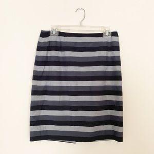 Halogen Gray Striped Pencil Skirt Size 6